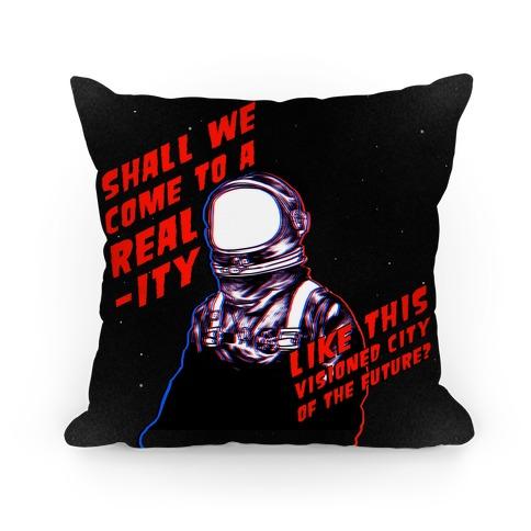 Metropolis Quote Pillow