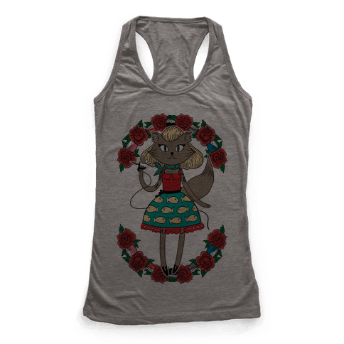 Tattooed Kitty Racerback Tank Top