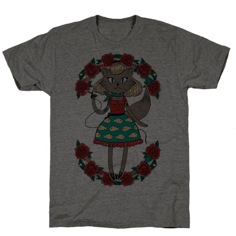 Tattooed Kitty Mens T-Shirt