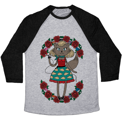 Tattooed Kitty Baseball Tee