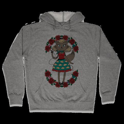 Tattooed Kitty Hooded Sweatshirt