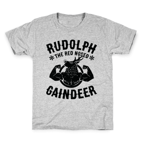 Rudolph The Red Nosed Gaindeer Kids T-Shirt