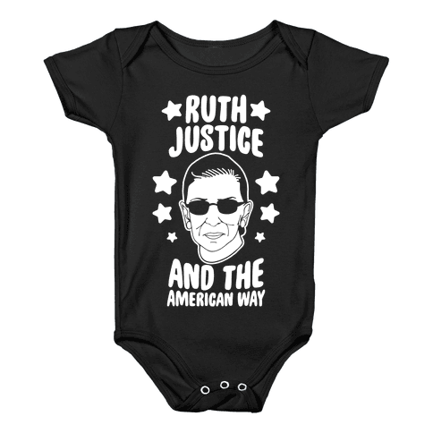 Ruth, Justice, And The American Way Baby Onesy