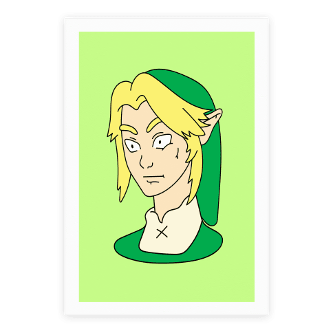 Link Face Parody Poster
