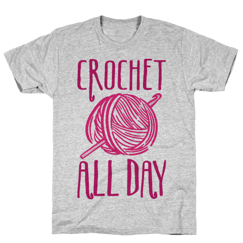 Crochet All Day Mens T-Shirt