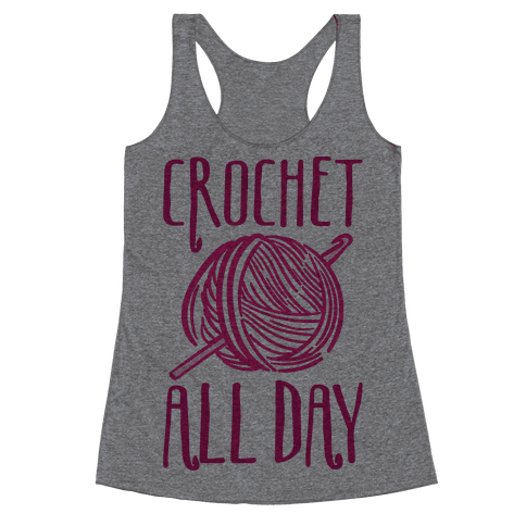 Crochet All Day Racerback Tank Top