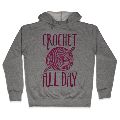 Crochet All Day Hooded Sweatshirt