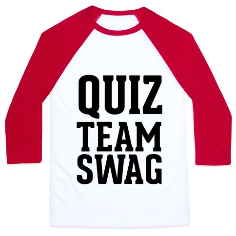 Quiz Team Swag Baseball Tee