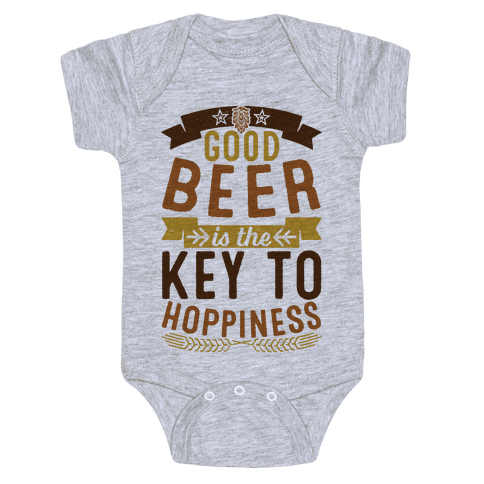 Good Beer Is The Key To Hoppiness Baby Onesy
