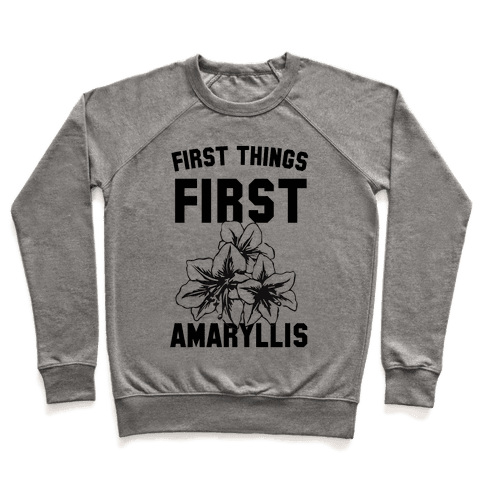 First Things First Amaryllis Pullover