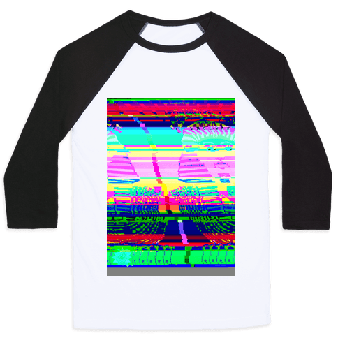 Glitch Art Baseball Tee