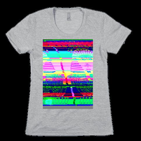 Glitch Art Womens T-Shirt