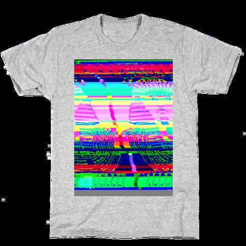 Glitch Art Mens T-Shirt