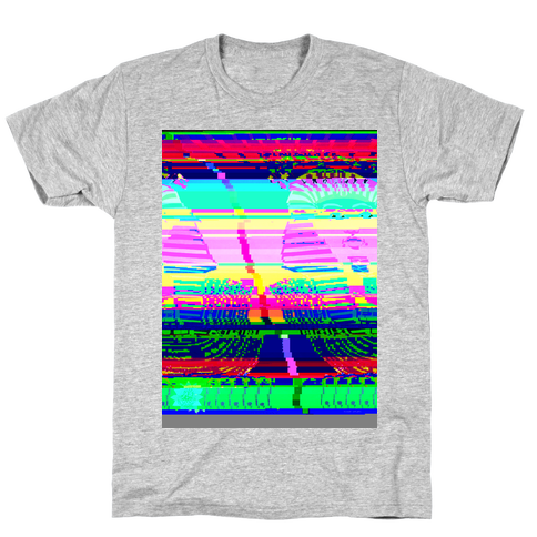 Glitch Art Mens T-Shirt