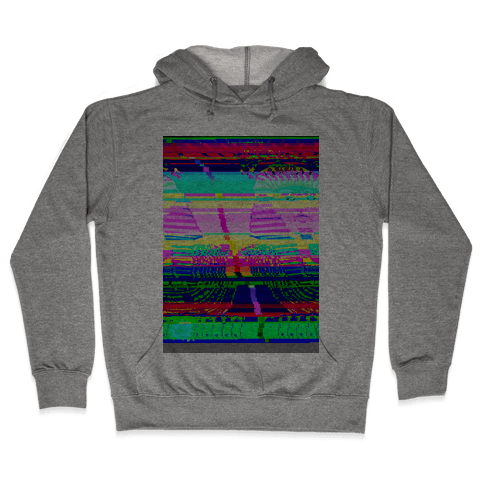 Glitch Art Hooded Sweatshirt