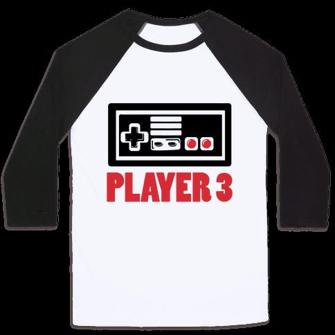 Player 3 Baseball Tee