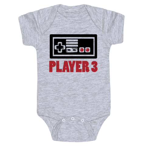 Player 3 Baby Onesy