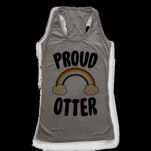 Proud Otter Racerback Tank Top