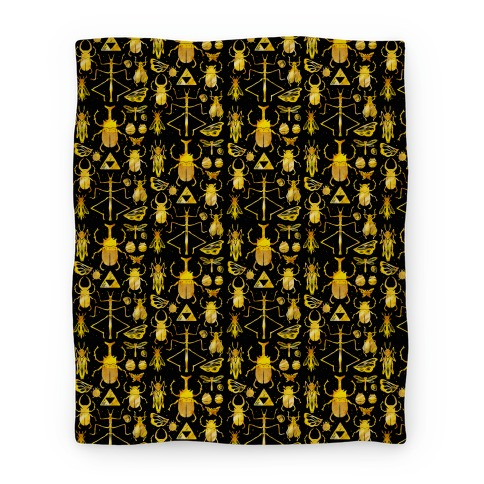 Golden Bug Collector Blanket Blanket