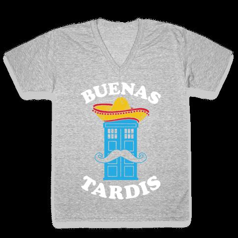 Buenas Tardis V-Neck Tee Shirt