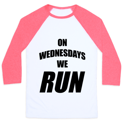 On Wednesdays We Run Baseball Tee