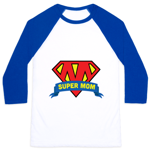 Super Mom Baseball Tee