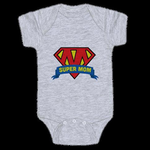 Super Mom Baby Onesy