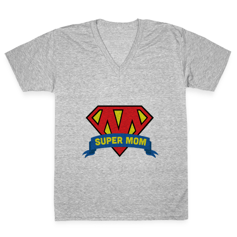Super Mom V-Neck Tee Shirt