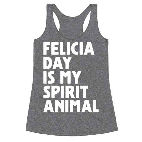 Felicia Day Is My Spirit Animal Racerback Tank Top