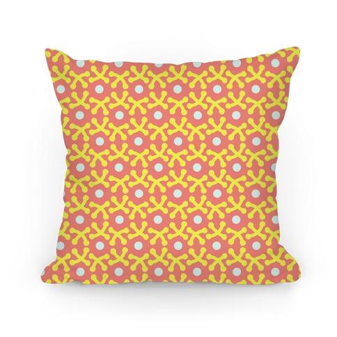 Orange Crafters Stitch Pattern Pillow