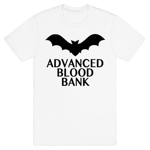 Vampire Advanced Blood Bank Mens T-Shirt