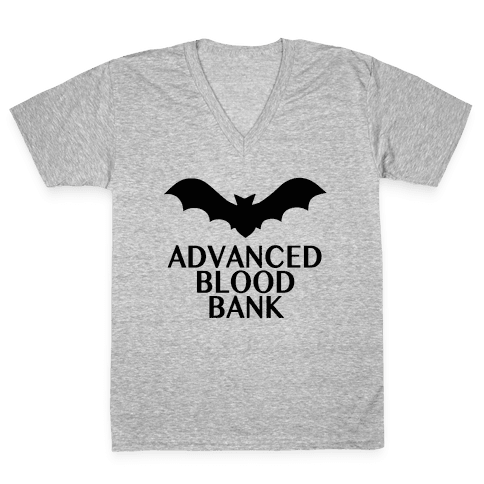 Vampire Advanced Blood Bank V-Neck Tee Shirt