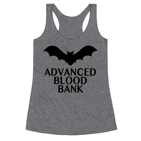 Vampire Advanced Blood Bank Racerback Tank Top