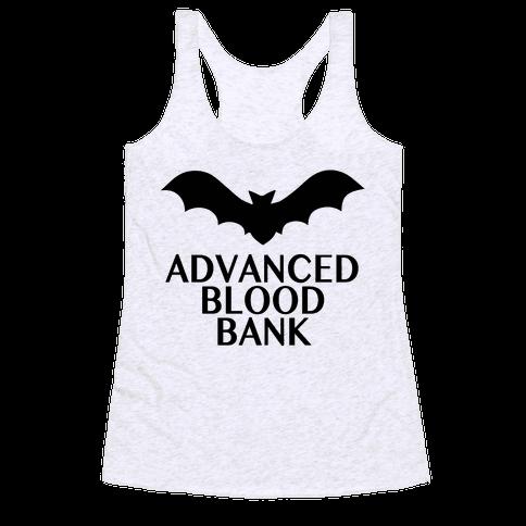 Vampire Advanced Blood Bank Racerback Tank Top