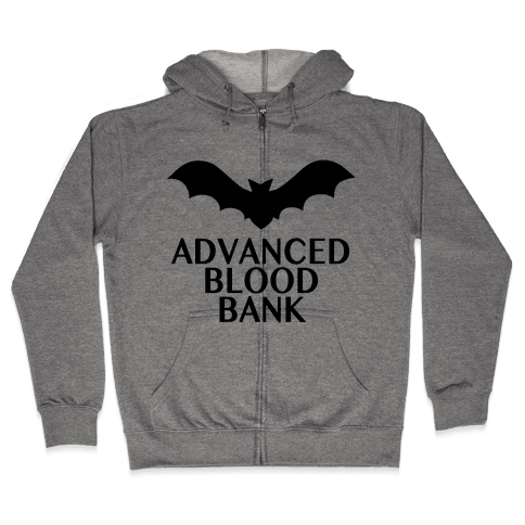 Vampire Advanced Blood Bank Zip Hoodie
