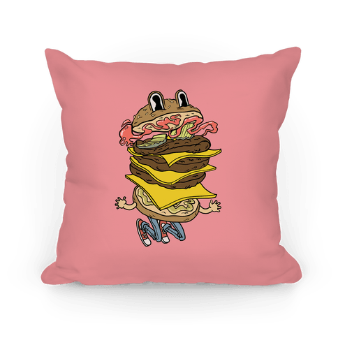 Triple Decker Burger Dude Pillow
