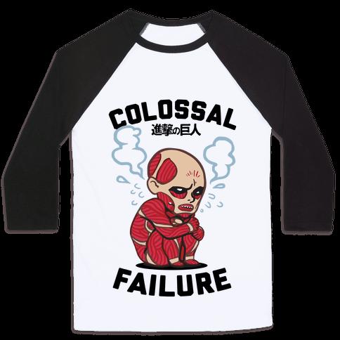 Colossal Failure Parody Baseball Tee