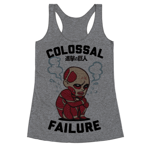 Colossal Failure Parody Racerback Tank Top