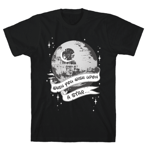 When You Wish Upon A Death Star Mens/Unisex T-Shirt