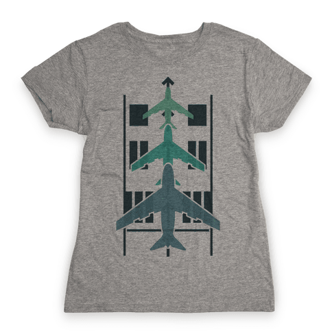Takeoffs and Landings Womens T-Shirt