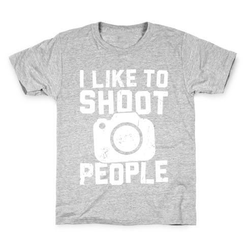 I Like To Shoot People Kids T-Shirt