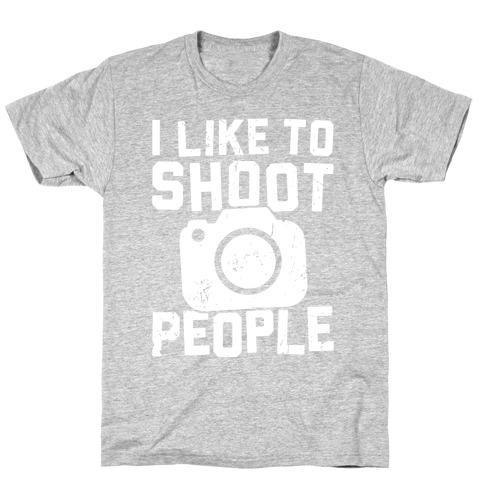 I Like To Shoot People Mens T-Shirt