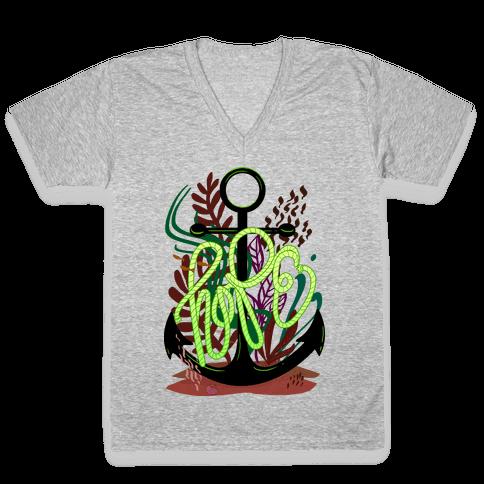 Hope (Deep Sea) V-Neck Tee Shirt