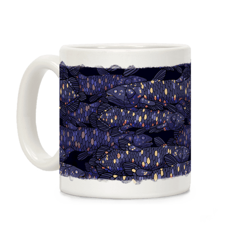 Nautical Coelacanth Fish Coffee Mug