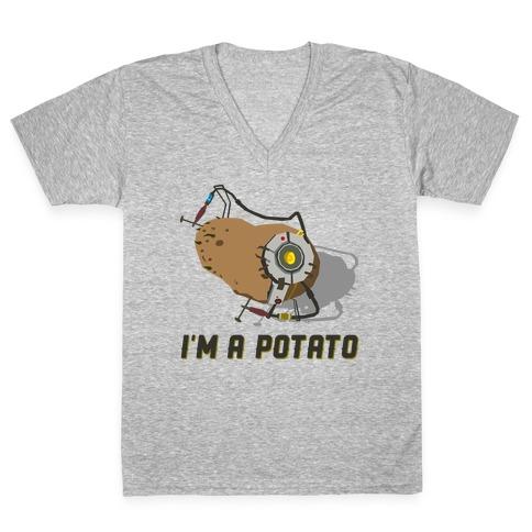 GLaDOS Potato V-Neck Tee Shirt