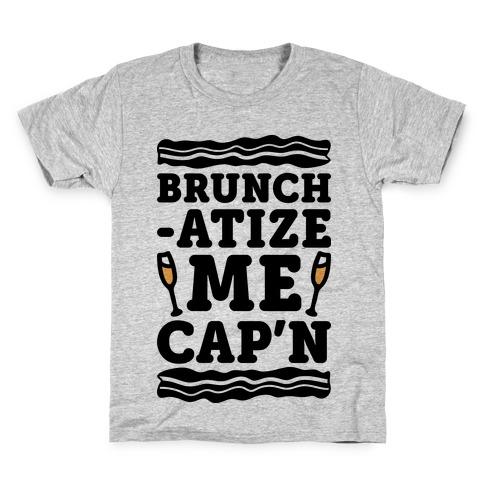 Brunchatize Me Cap'n Kids T-Shirt