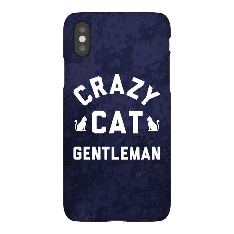 Crazy Cat Gentleman Phone Case