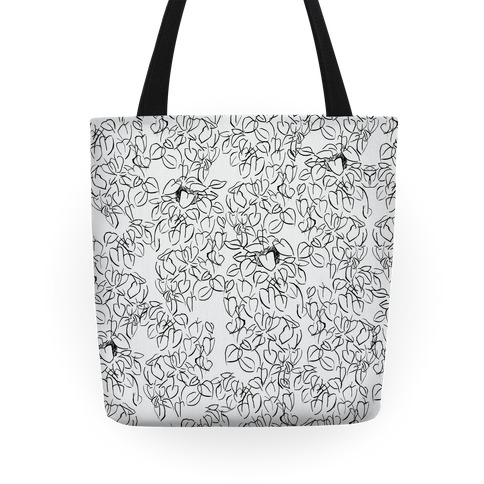 One Stylish Plant Pattern Tote