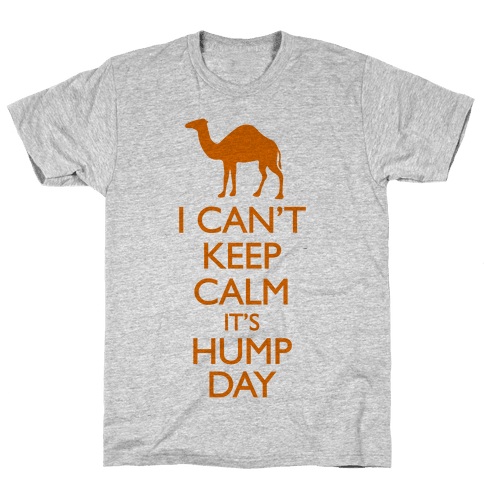 I Can't Keep Calm It's Hump Day Mens T-Shirt