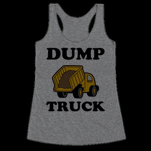 Dump Truck Racerback Tank Top